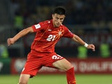 Elif Elmas in action for Macedonia in June 2017