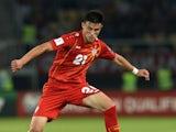 Elif Elmas in action for Macedonia in June 2017