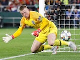 Jordan Pickford in action during the Nations League game between Spain and England on October 15, 2018