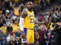 LeBron James in action for the LA Lakers on October 10, 2018