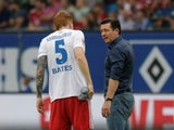 David Bates in action for Hamburg in August 2018