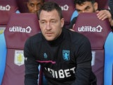 Aston Villa coach John Terry in the dugout on October 20, 2018