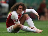 Matteo Guendouzi goes down during the Europa League group game between Sporting Lisbon and Arsenal on October 25, 2018