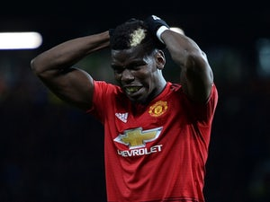 Paul Pogba in action for Manchester United during his side's Premier League clash with Everton on October 28, 2018