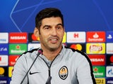 Paulo Fonseca at a Shakhtar Donetsk press conference on October 22, 2018