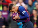 Barcelona midfielder Philippe Coutinho celebrates scoring against Real Madrid in El Clasico on October 28, 2018