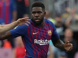 Samuel Umtiti in action for Barcelona on September 18, 2018