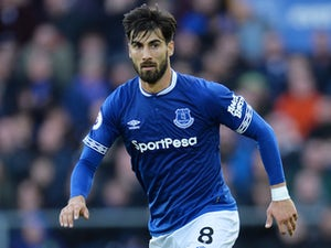 Andre Gomes in action for Everton on October 21, 2018