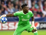 Andre Onana in action for Ajax in the Champions League on September 19, 2018