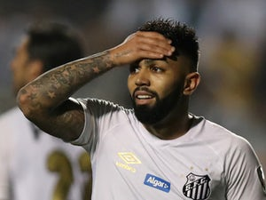 Gabriel Barbosa in action for Santos in the Copa Libertadores on August 29, 2018