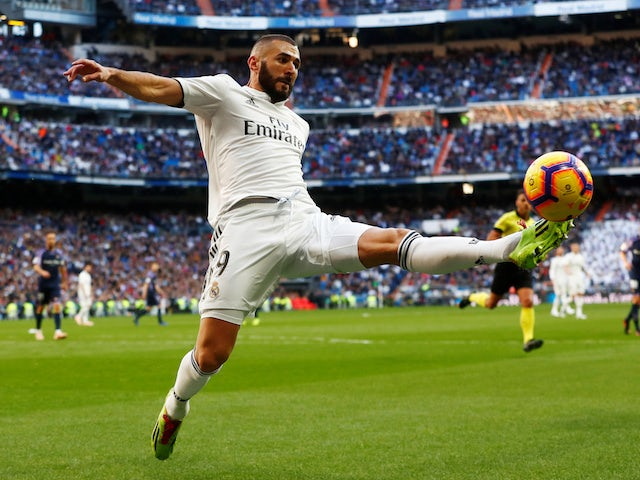 Karim Benzema in action during the La Liga game between Real Madrid and Real Valladolid on November 3, 2018