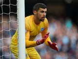 Mathew Ryan in action for Brighton & Hove Albion on September 29, 2018