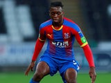 Aaron Wan-Bissaka in action for Crystal Palace on August 28, 2018