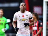 Anthony Martial in action for Manchester United on November 3, 2018