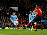 Manchester United forward Anthony Martial scored a penalty during the derby against Manchester City on November 11, 2018