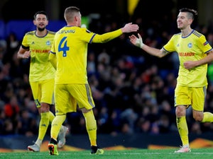 BATE Borisov celebrate scoring a goal against Chelsea in Europa League fixture on October 25, 2018