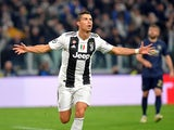 Cristiano Ronaldo celebrates scoring the opener for Juventus in their Champions League clash with Manchester United on November 7, 2018