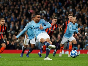 Jesus nets treble as Man City thrash Shakhtar