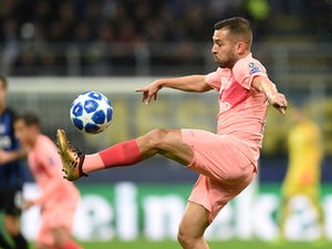 Jordi Alba in action for Barcelona on November 6, 2018