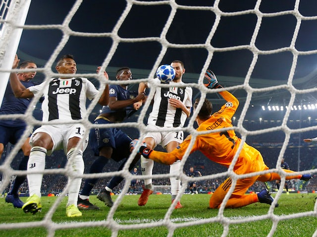 Leonardo Bonucci scores an own goal during Juventus' Champions League defeat at home to Manchester United on November 7, 2018