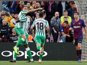 Real Betis shock Barcelona at Camp Nou