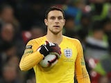 Alex McCarthy in action for England on November 15, 2018