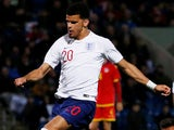 Dominic Solanke in action for England under-21s on October 11, 2018