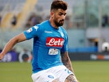 Elseid Hysaj in action for Napoli in April 2018