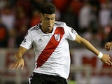 Exequiel Palacios in action for River Plate on October 24, 2018