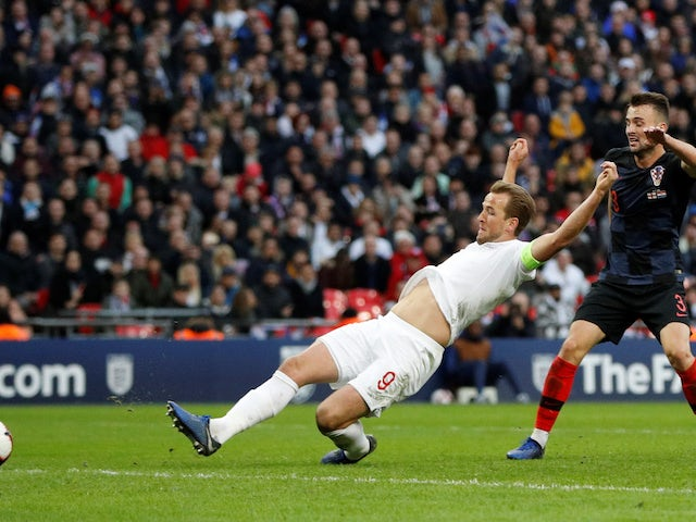 Harry Kane scores the winner during the Nations League group game between England and Croatia on November 18, 2018