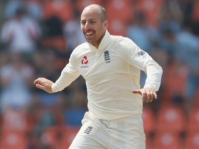 Jack Leach spins England into strong position in Kandy