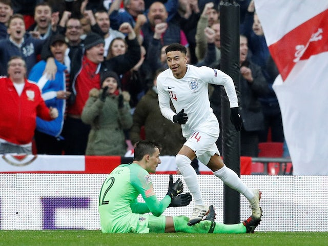 Jesse Lingard equalises during the Nations League group game between England and Croatia on November 18, 2018