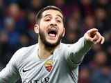 Kostas Manolas in action for Roma in the Champions League on November 7, 2018