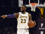 LeBron James in action for the LA Lakers on November 11, 2018