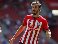 Manolo Gabbiadini in action for Southampton on August 4, 2018