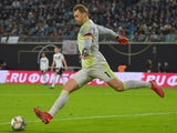 Manuel Neuer in action for Germany on November 15, 2018