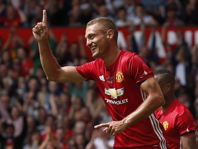 Nemanja Vidic in Manchester United colours