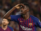Ousmane Dembele in action for Barcelona on September 18, 2018