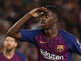 Ousmane Dembele in action for Barcelona on September 18, 2018
