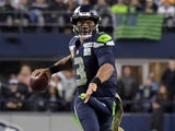 Russell Wilson in action for Seattle Seahawks on November 15, 2018