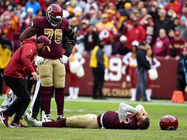 Result: Washington Redskins' Alex Smith suffers serious injury in Houston Texans defeat