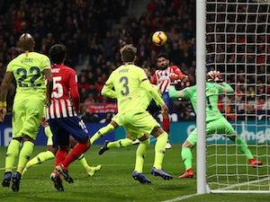 Atletico Madrid forward Diego Costa scores against Barcelona