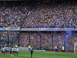 Boca Juniors fans fill the entire stadium for a training session ahead of the Copa Libertadores final against River Plate