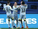 Jack Marriott celebrates with teammates after scoring against Sheffield Wednesday on November 24, 2018