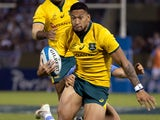 Israel Folau in action for Australia on October 6, 2018
