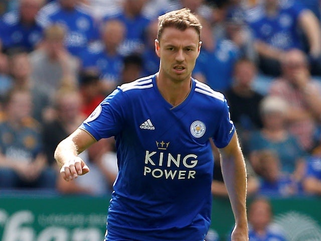 Jonny Evans in action for Leicester City in August 2018