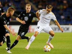 Leandro Trossard in action during a Europa League game between Genk and Malmo in September 2018