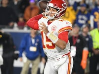 Patrick Mahomes in action for Kansas City Chiefs on November 19, 2018