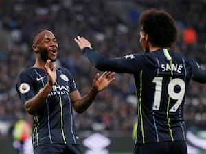 Raheem Sterling celebrates his goal for Manchester City against West Ham United on November 24, 2018