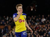 Southampton's Stuart Armstrong celebrates after scoring during his side's Premier League clash with Fulham on November 24, 2018